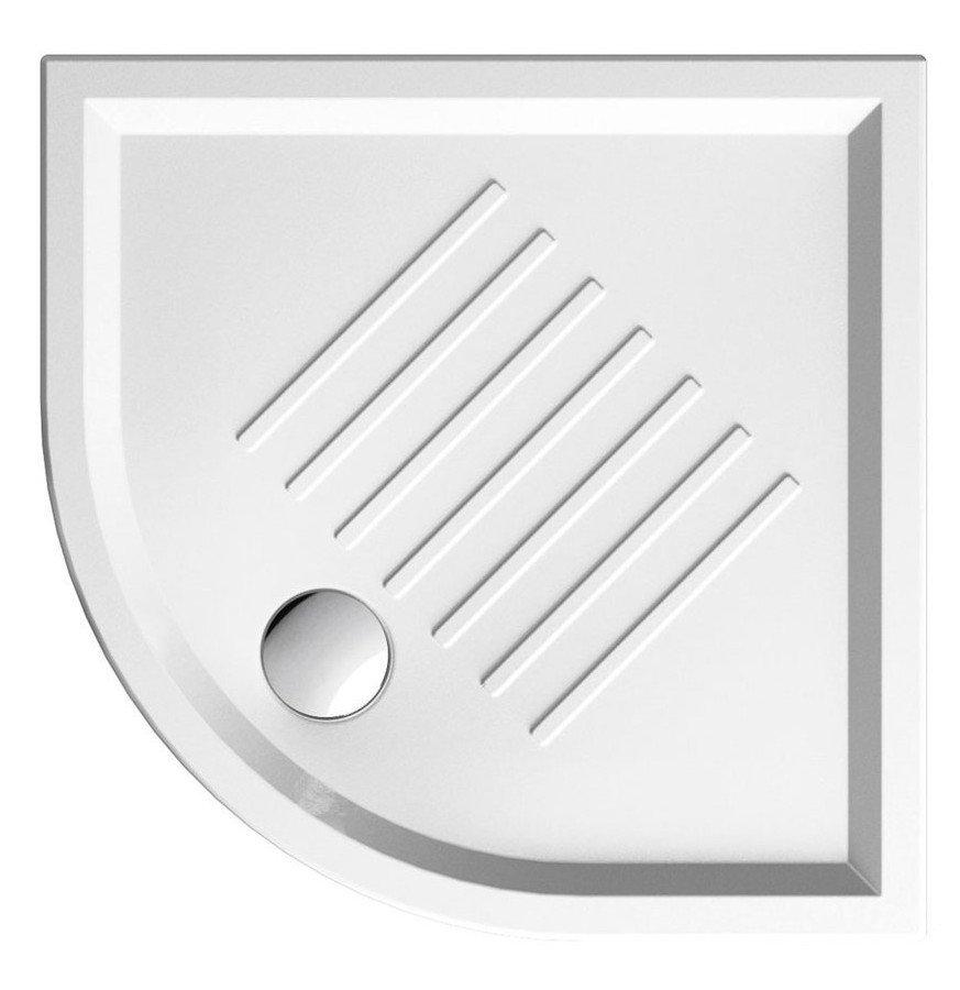 Keramická sprchová vanička, čtvrtkruh 90x90x6cm, R550 349711