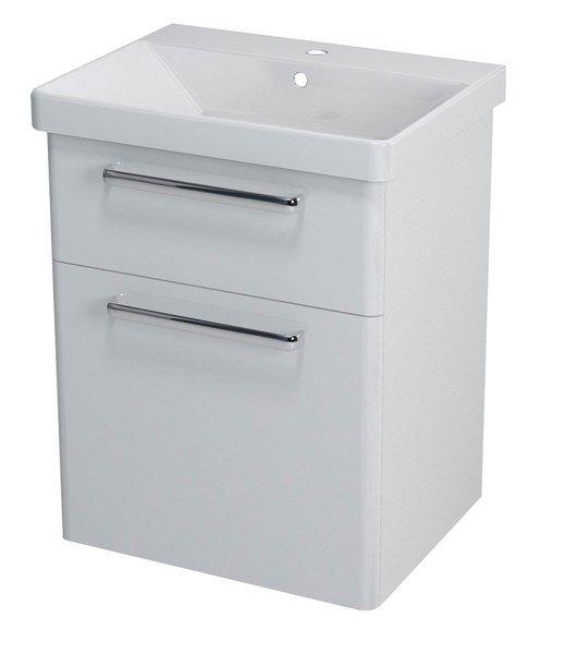 THEIA umyvadlová skříňka 56,4x70x44,2cm, 2xzásuvka, bílá TH060