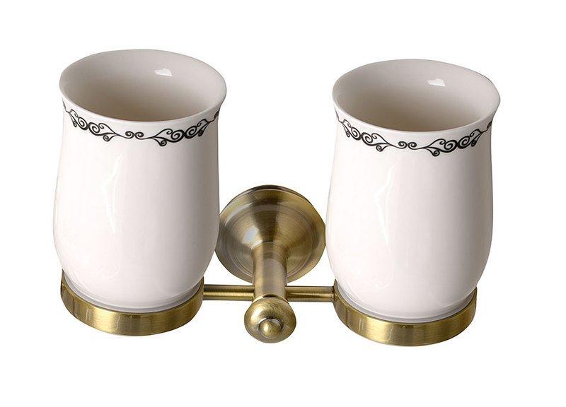 ASTOR dvojitý držák skleniček, bronz 1326-05