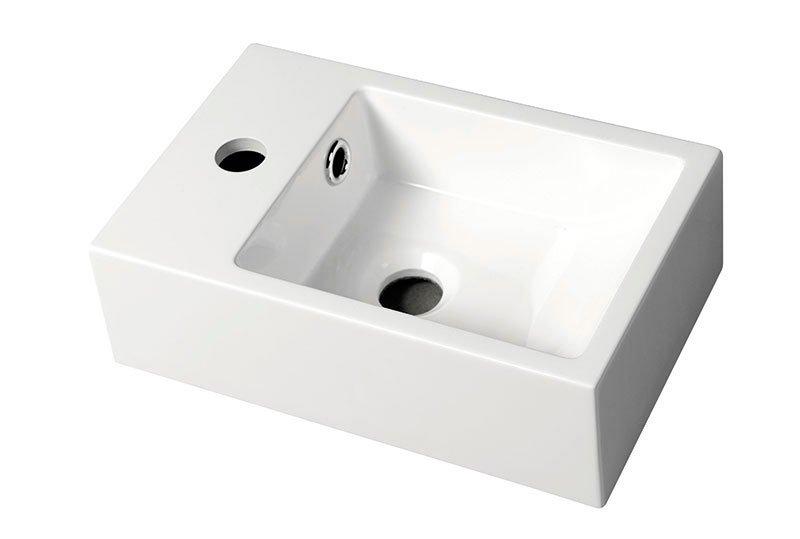 ALABAMA Umývátko z litého mramoru, 36x11x23cm levé, bílá AL794