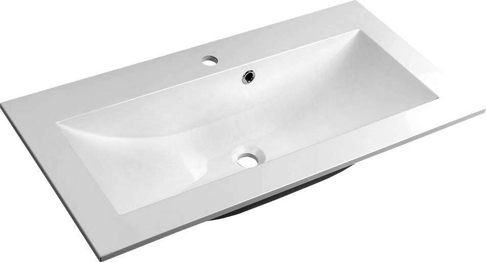 YUKON umyvadlo 80x45cm, litý mramor, bílá YU080