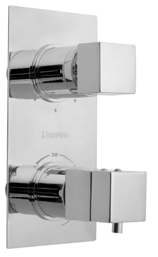 LATUS podomítková sprchová termostatická baterie, 3 výstupy, chrom 1102-92