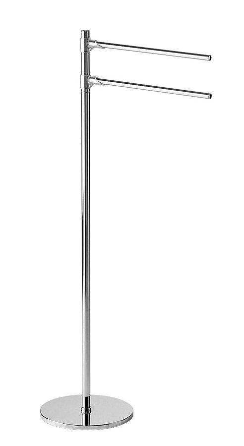 Stojan s držákem ručníků, kulatý, chrom 2131