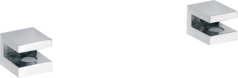 ASOFFI pár držáků poličky (bez skla), chrom 102202112