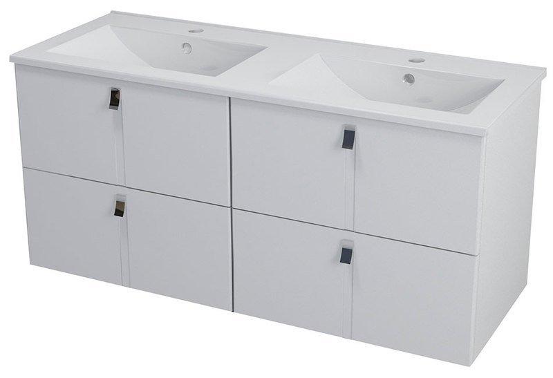 MITRA umyvadlová skříňka s umyvadlem 150x55x46 cm, bílá 2XMT0711601-150