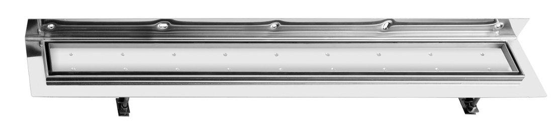 CORNER 97 nerezový kanálek s roštem pro dlažbu, ke zdi 970x130mm FP538
