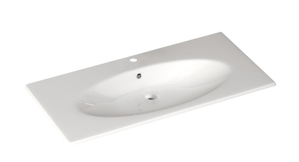 SISTEMA X keramické umyvadlo 120x51cm, bílá 10SX50121