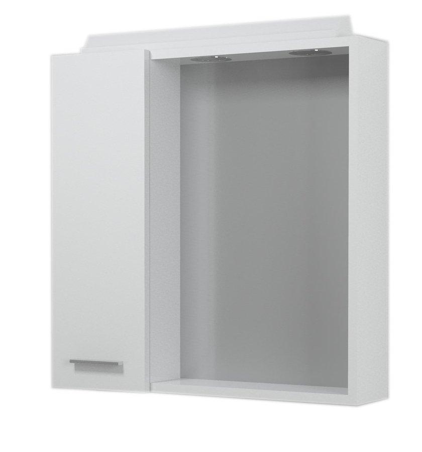 ZOJA/KERAMIA FRESH galerka s halogenovým osvětlením, 60x60x14cm, bílá, levá 45021