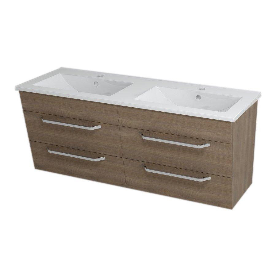 KALI umyvadlová skříňka 120x50x45cm, ořech bruno 56122