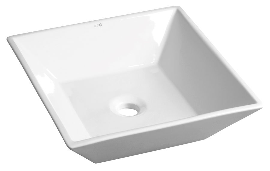 ELCHE keramické umyvadlo 41x13x41 cm, na desku BH7008