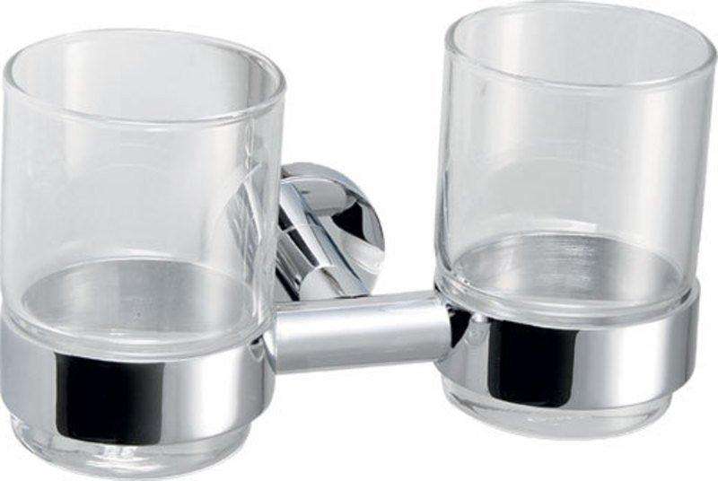 CIRCLE dvojitý držák skleniček, chrom 1320-05