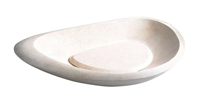 BLOK 15 kamenné umyvadlo 70x38x10cm, Galala, matný kámen 2401-19