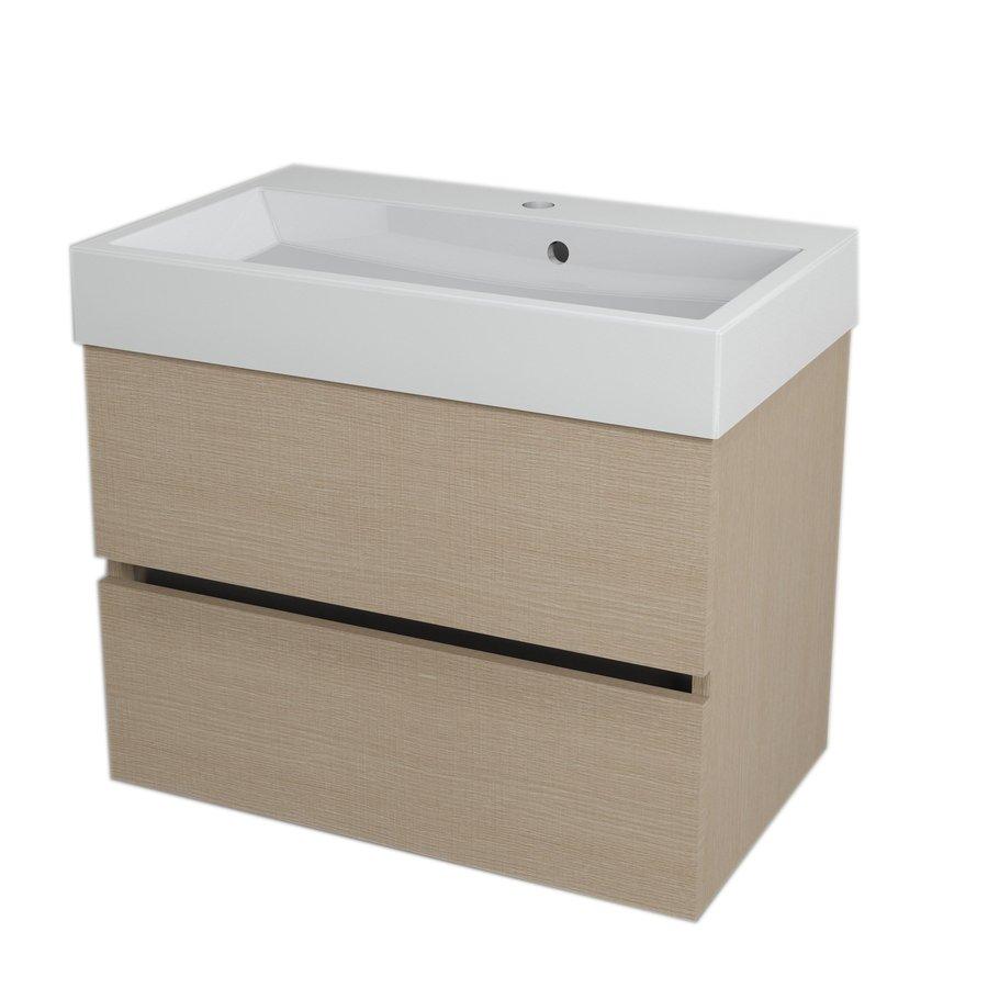 LARGO umyvadlová skříňka 67x50x41cm, dub benátský LA704