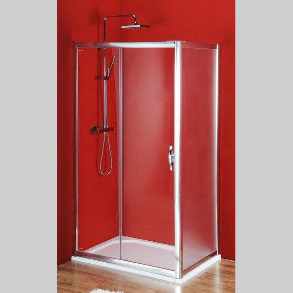 Sigma čvercový sprchový kout 1000x1000mm L/P varianta, dveře čiré, bok Brick SG1240SG3680