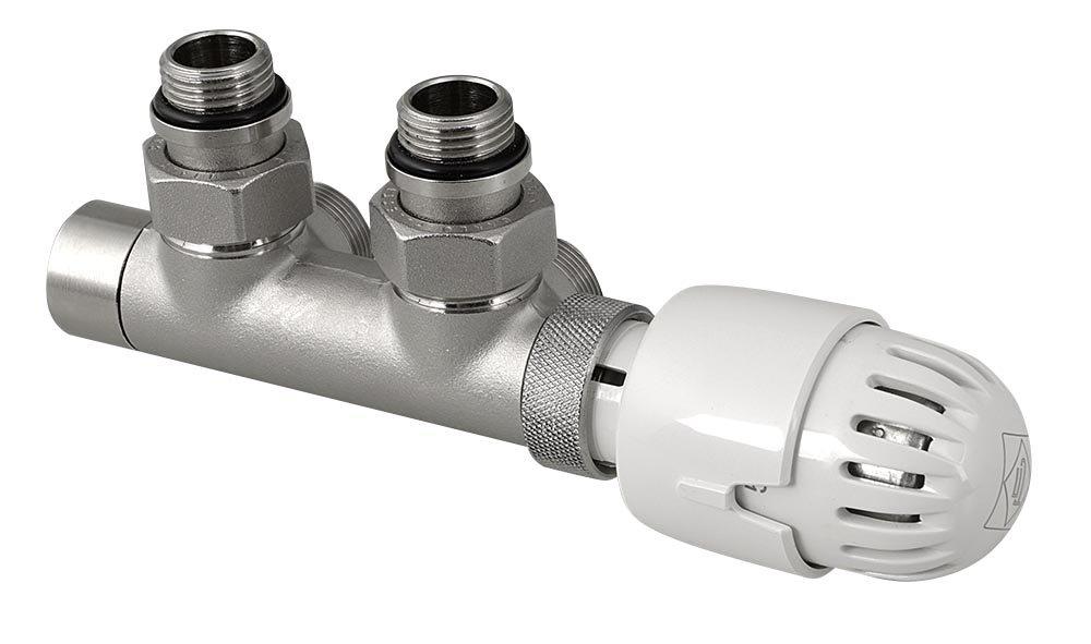 TOP 50 připojovací sada termostatická pro středové připojení 50mm, nikl/bílá CP9710