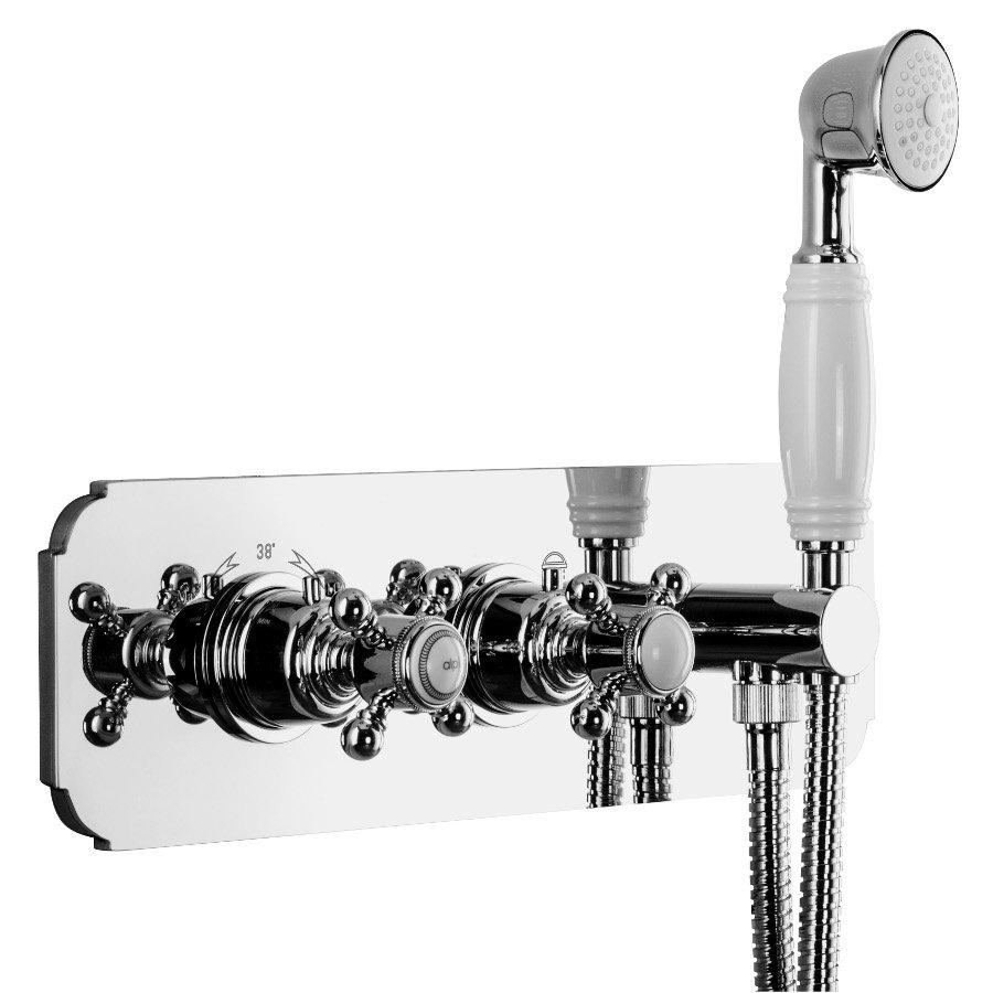 LONDON podom.sprch.termostat.baterie s ruční sprchou a držákem, 2 výstupy, chrom LO41L163D