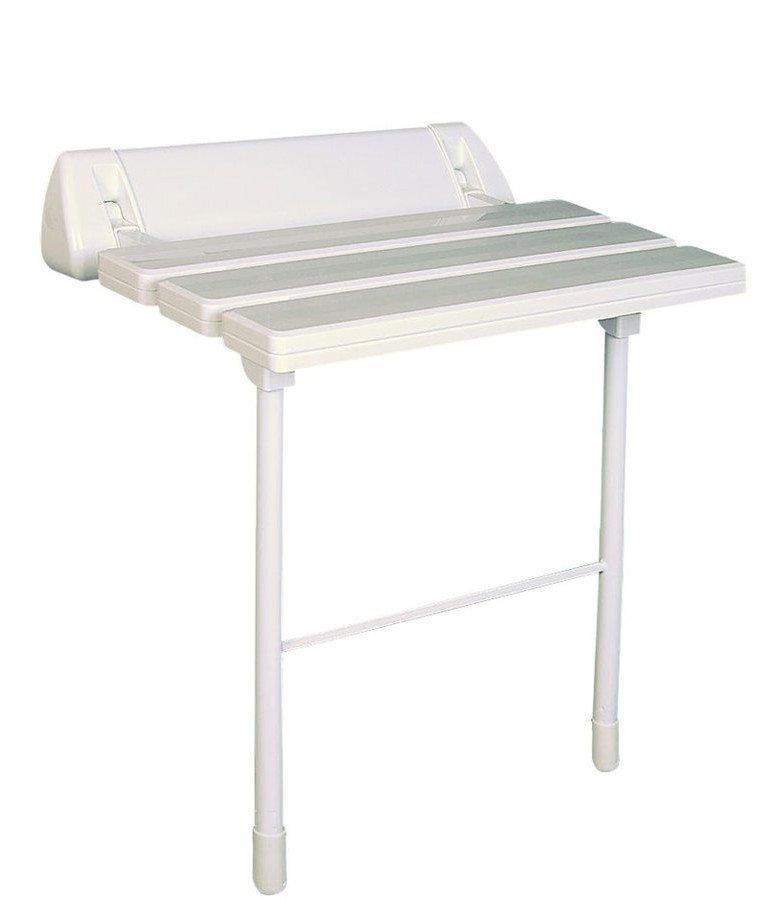 Sedátko do sprchy, sklopné s podpěrou, bílá A0020301