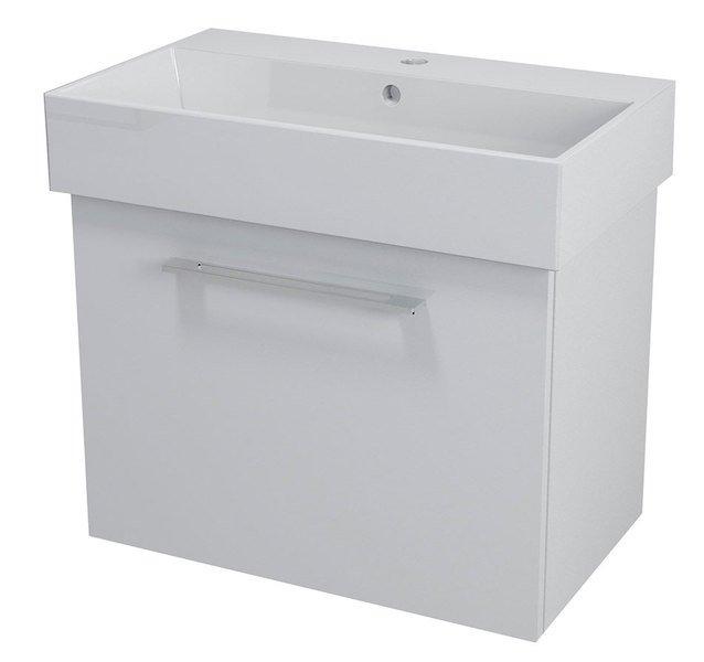 NATY umyvadlová skříňka 66,5x50x40cm, bílá NA071