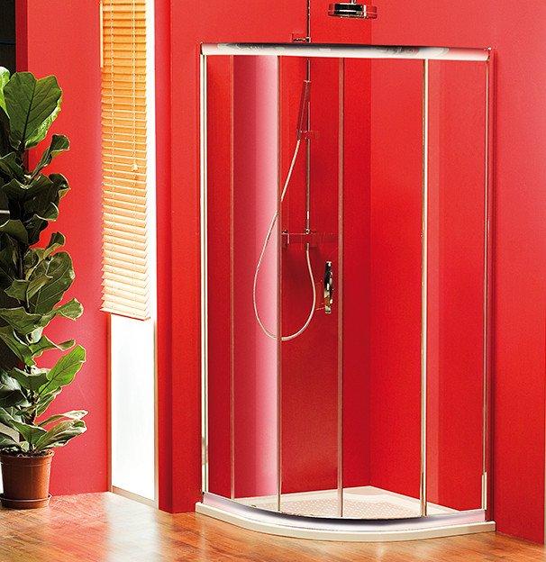 SIGMA čtvrtkruhová sprchová zástěna 1000x1000mm, R550, 1dveře, L/R, čiré sklo SG1205