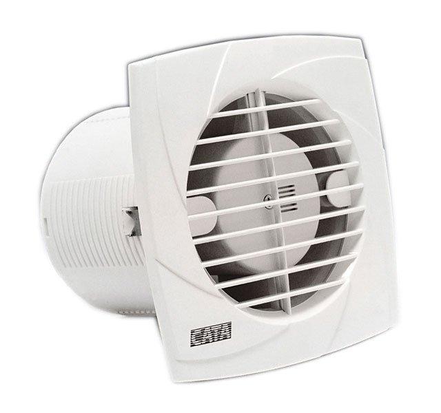 B-10 PLUS C koupelnový ventilátor se šňůrkou, 15W, potrubí 100mm, bílá 981201