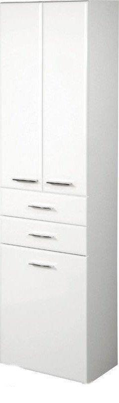 ZOJA/KERAMIA FRESH skříňka vysoká s košem 50x184x29cm, bílá 51293