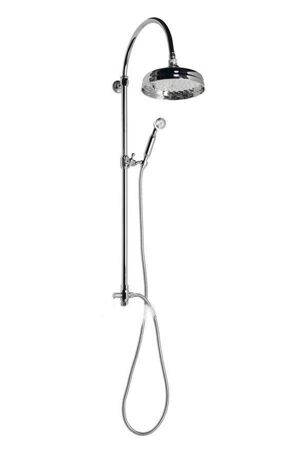 ANTEA sprchový sloup k napojení na baterii, hlavová a ruční sprcha, chrom SET031