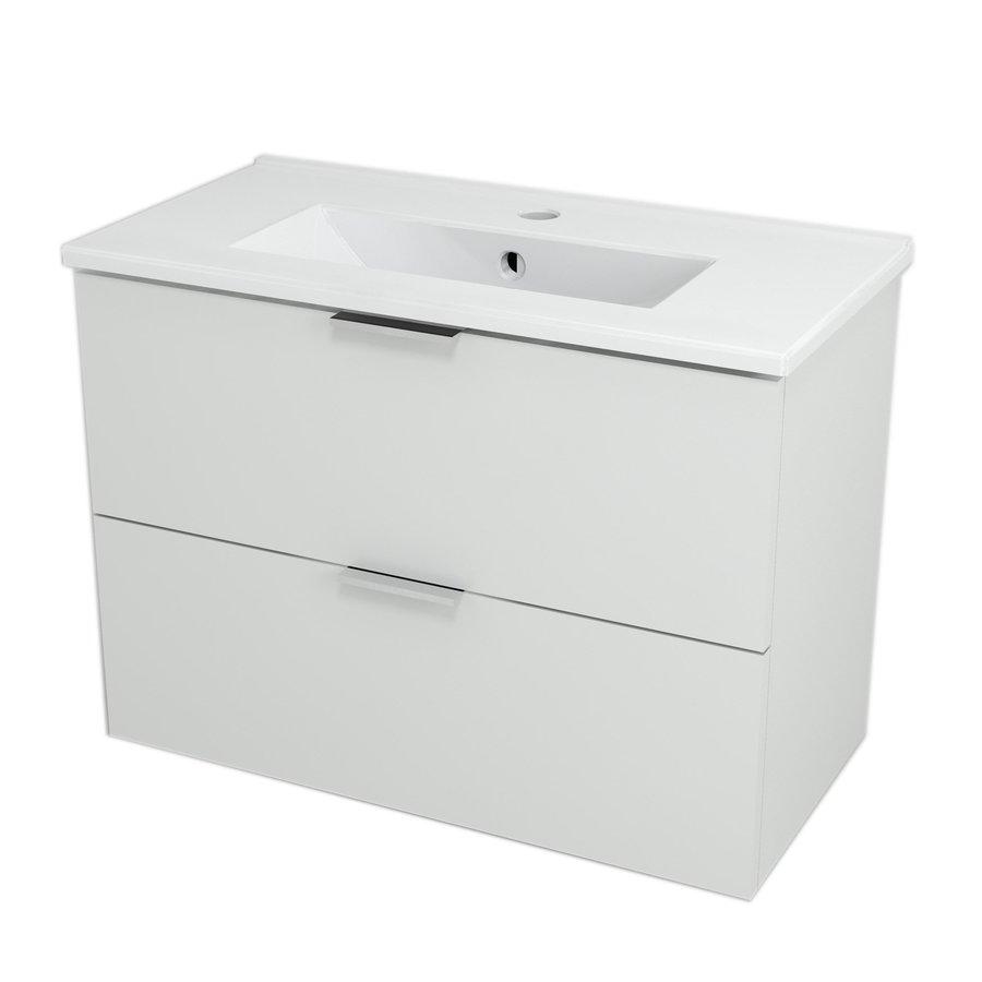 ALEXIS umyvadlová skříňka 69x50x35cm, bílá pololesk AX071