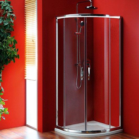SIGMA čtvrtkruhová sprchová zástěna 800x800mm, R550, 2dveře, čiré sklo SG1184
