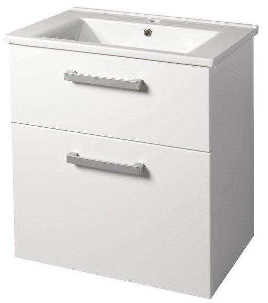 VEGA umyvadlová skříňka 62x72,6x43,8 cm, 2xzásuvka, bílá VG063