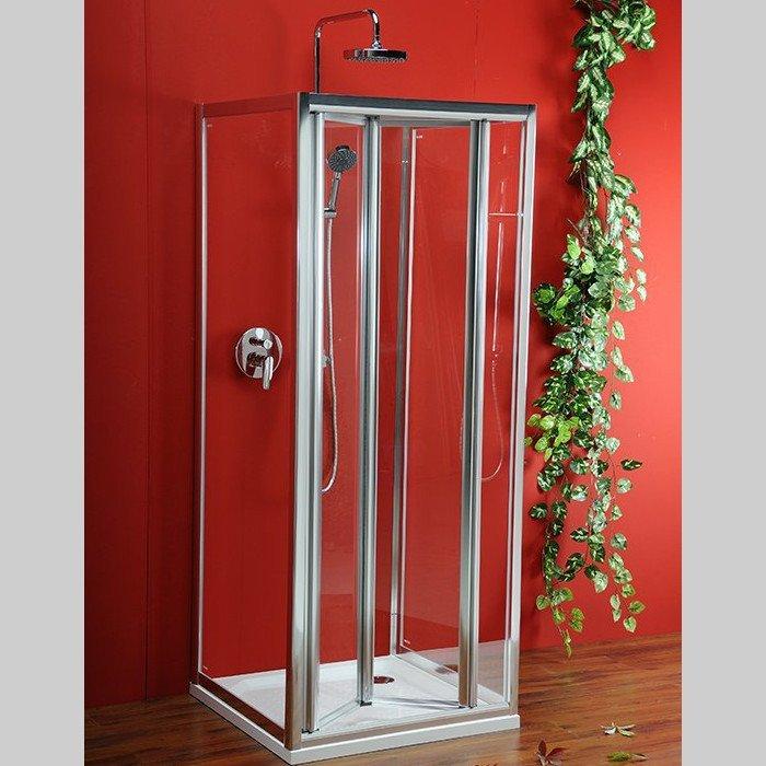 Sigma třístěnný čtvercový sprchový kout 900x900x900mm L/P skládací dveře SG1829SG1569SG1569