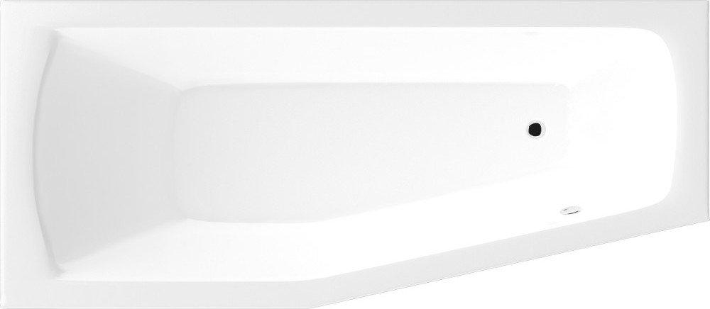 OPAVA vana 160x70x39cm bez nožiček, levá, bílá C1670