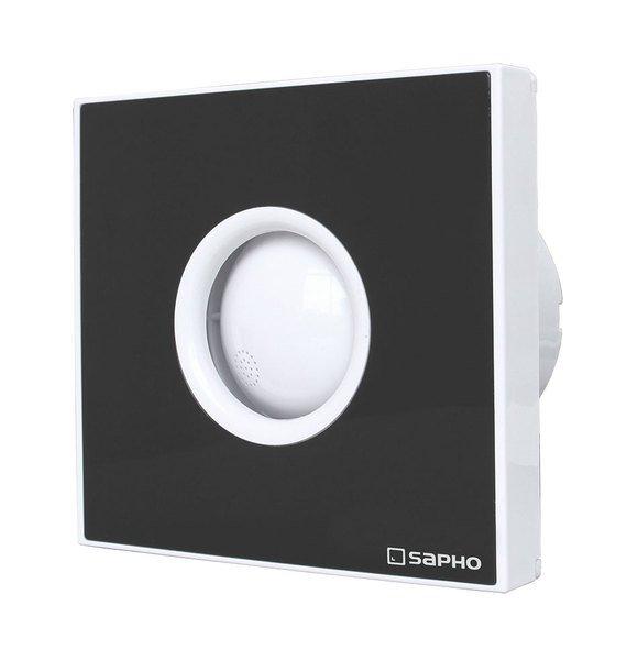 LITE koupelnový ventilátor axiální s časovačem, 15W, potrubí 100mm, černá LT104