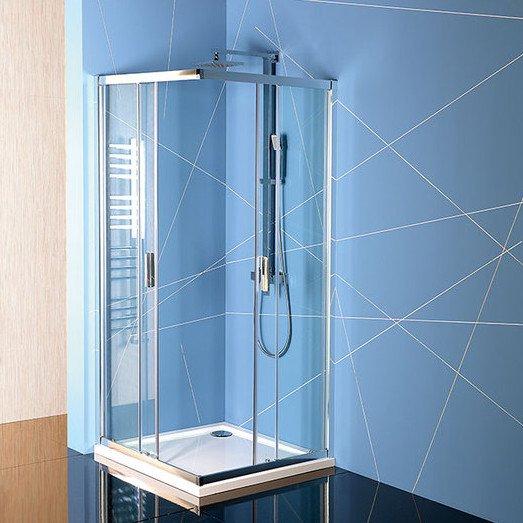EASY LINE čtvercová sprchová zástěna 800x800mm, čiré sklo EL5215