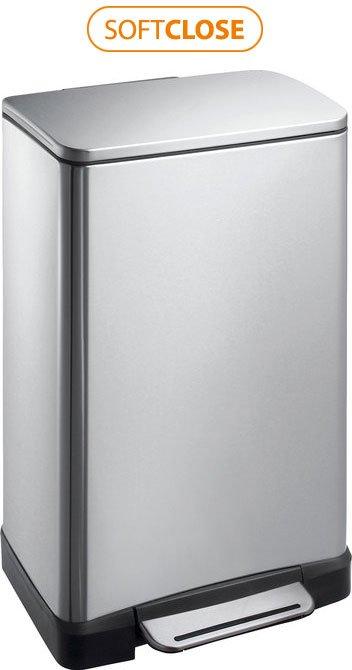 E-BIN odpadkový koš 30l, Soft Close, broušená nerez DR205
