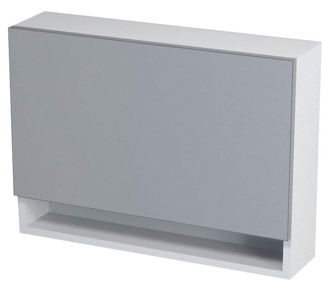 KLÁRA galerka s policí 70x51x18cm, bílá 56316