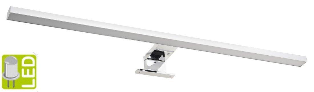 SERAPA LED svítidlo 8W, 230V, 600x50x100mm, plast, chrom SA149