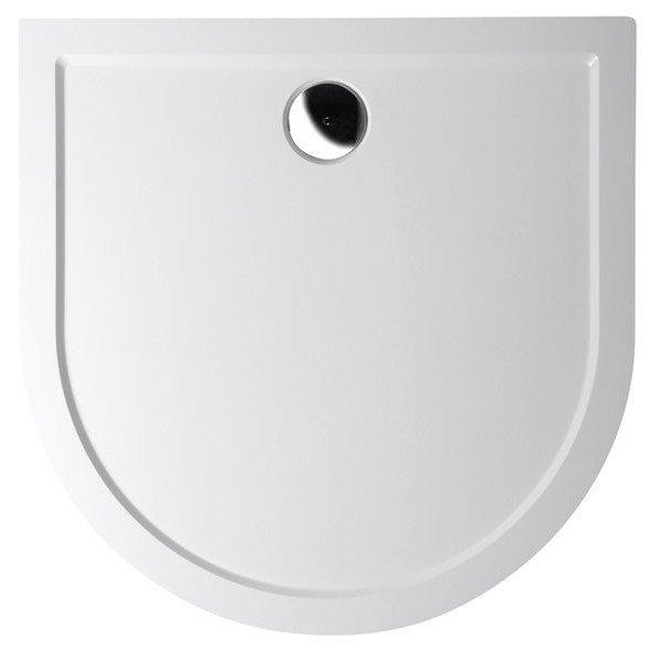 ISA 90 vanička z litého mramoru, půlkruh 90x90x4cm, bílá 50511