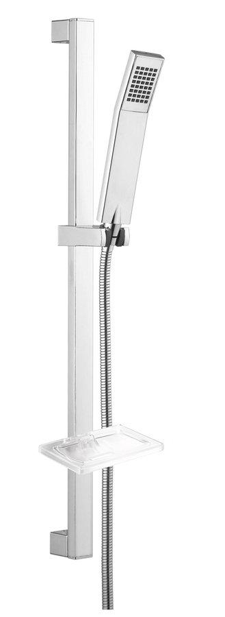 KATY sprchová souprava s mýdlenkou, posuvný držák, 680 mm, chrom 1202-22