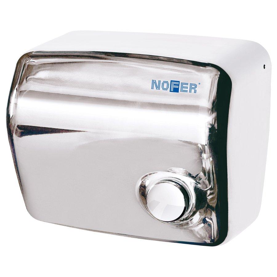 Elektrický osoušeč rukou s tlačítkem, 1500 W, nerez 01250.B