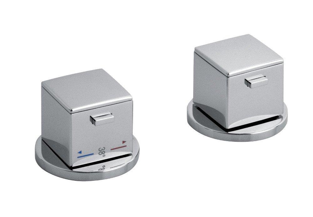 UNA dvouprvková termostatická baterie na okraj vany, chrom UN100