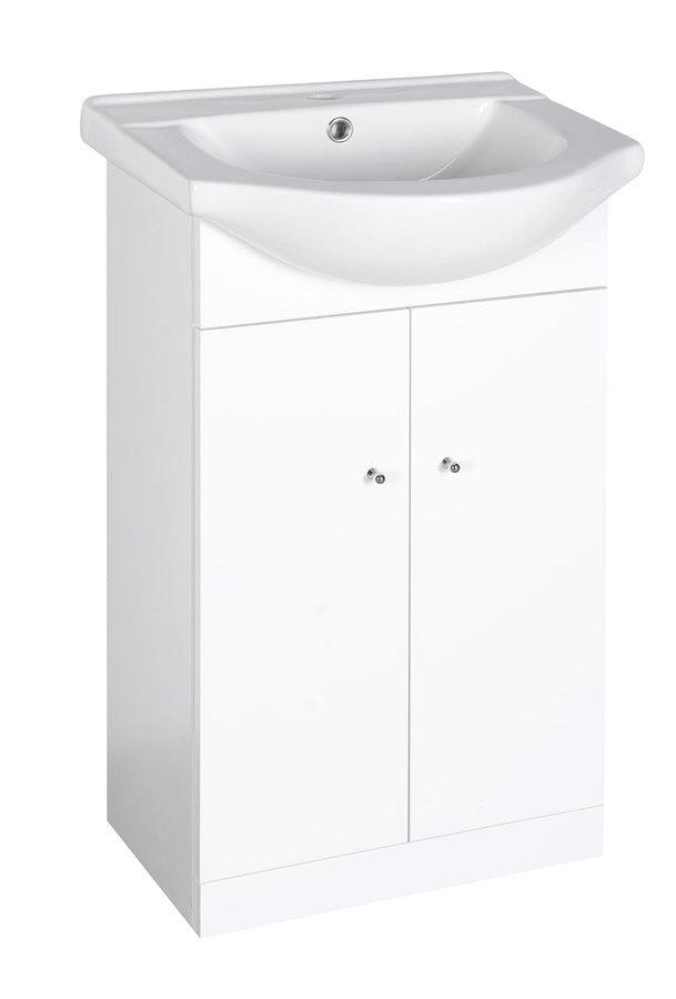 TORNADO umyvadlová skříňka s umyvadlem 50x84x40cm, bílá TO321