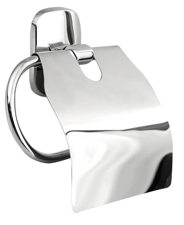 RUMBA držák toaletního papíru s krytem, chrom RB107