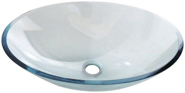 PURE skleněné umyvadlo oválné 52x37,5 cm 2501-12