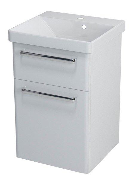 THEIA umyvadlová skříňka 46,4x70x44,2cm, 2xzásuvka, bílá TH050